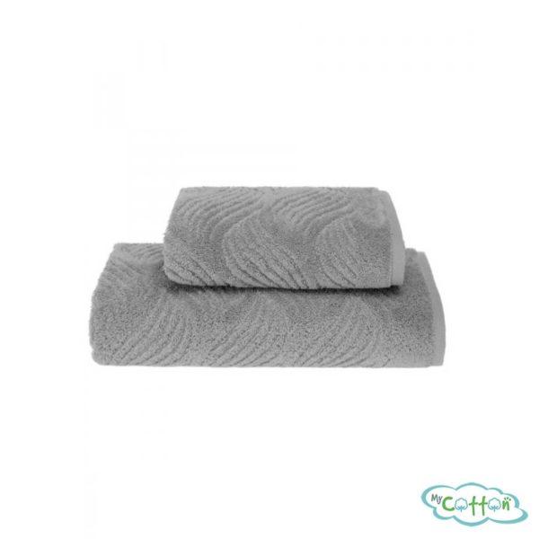 Полотенце махровое Soft Cotton серое WAVE