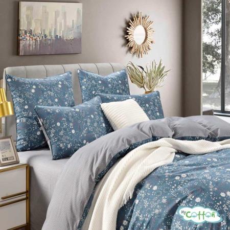 Постельное белье из сатина Элла цвет синий