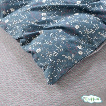 Постельное белье из сатина Элла цвет синий1