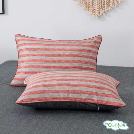 Постельное белье из сатина Эйдан цвет розовый