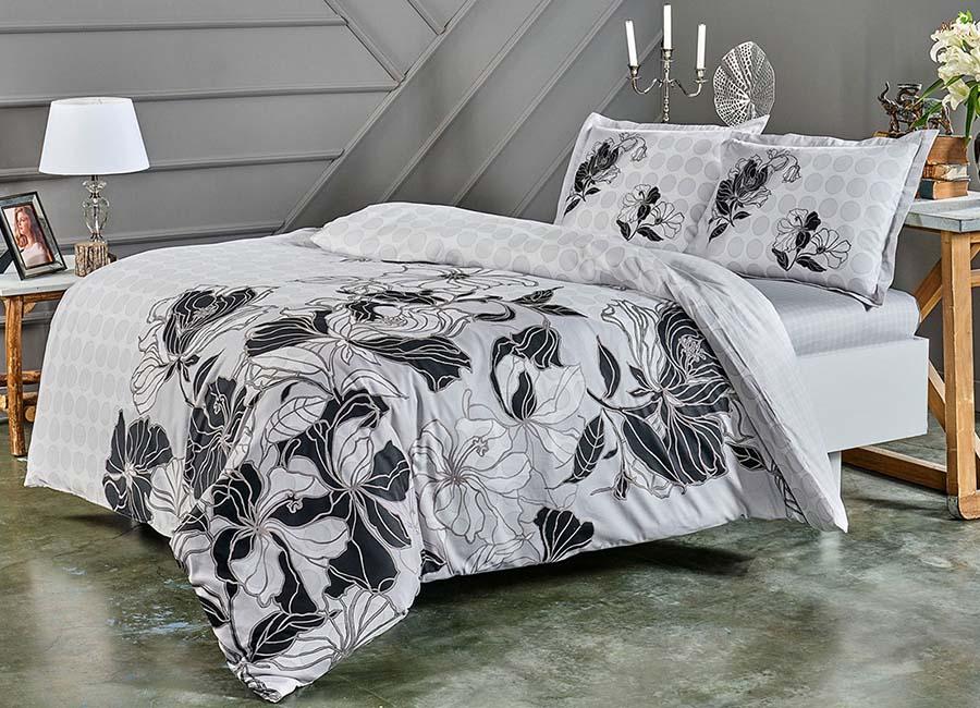 Комплект постельного белья TAC SHARON серый купить
